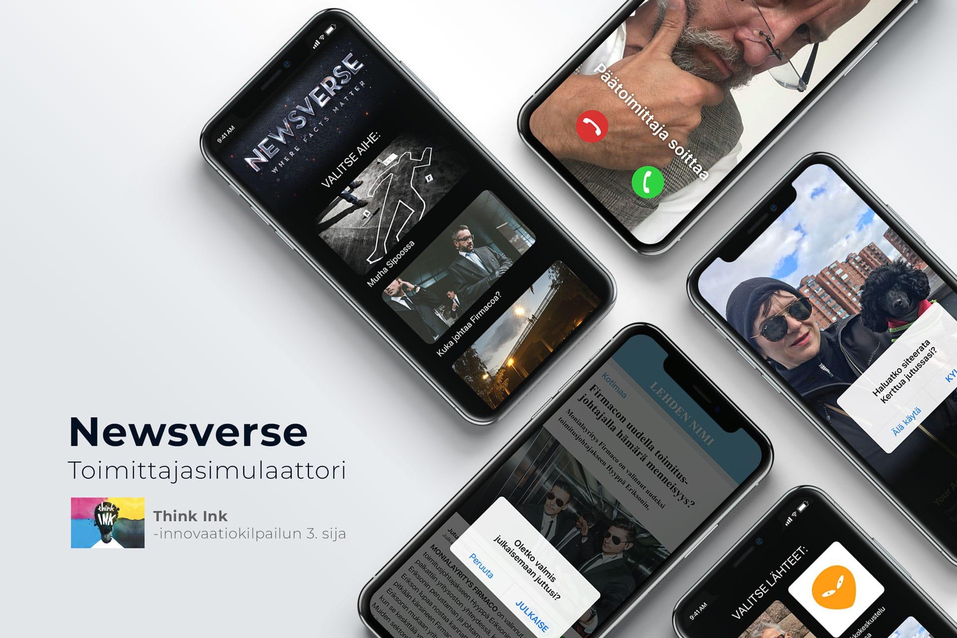 Newsverse-tomittajasimulaattori – uusi mobiili oppimisalusta