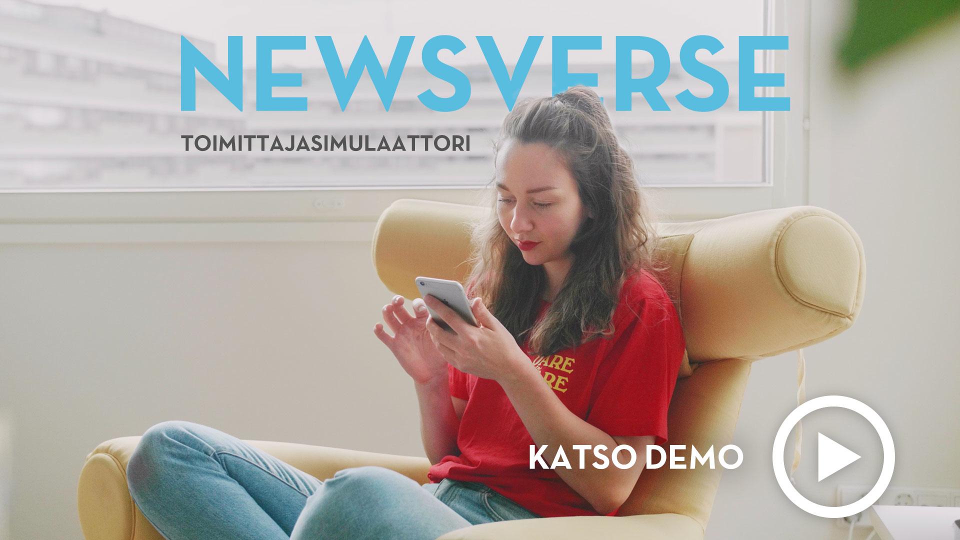 Newsverse toimittajasimulaattorin demovideo.